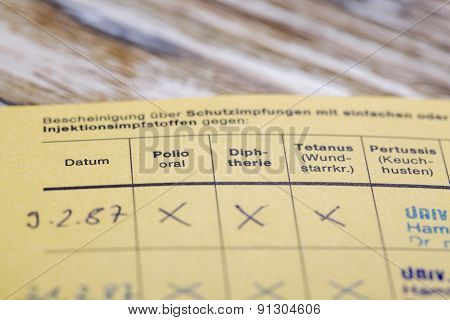German Certificate Of Mmr Vaccination