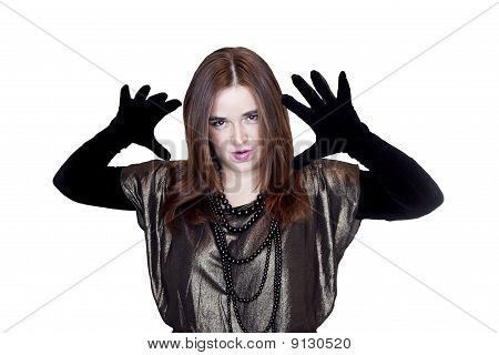 girl with gloves
