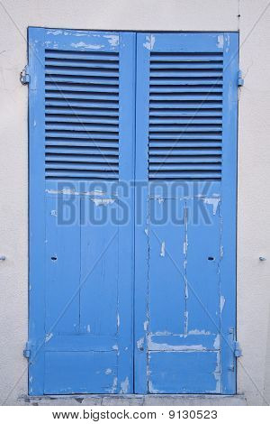 blue old door
