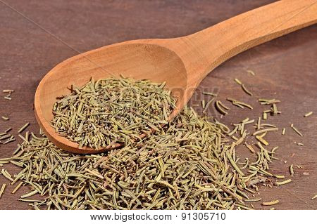 Dried Rosemary In A Spoon