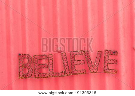 Believe Signage Decor Display