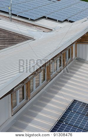 Photovoltaic Solar Panels On Roof