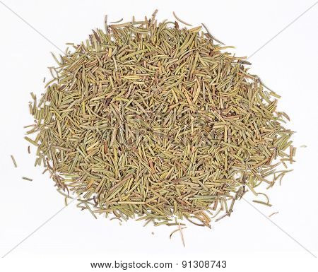 Heap Of Dried Rosemary On A White