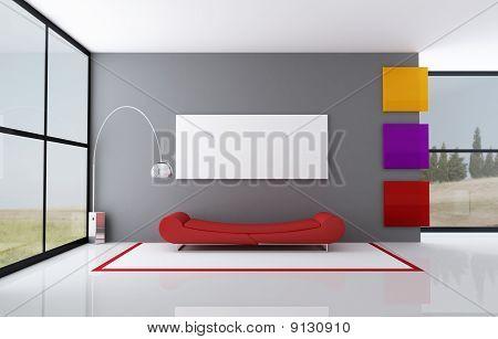 Sala minimalista color