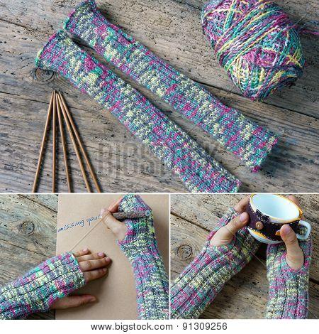 Knitting Wool Glove Christmas Present Winter