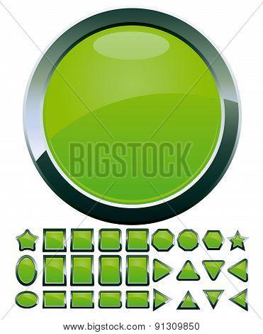 Green buttons set