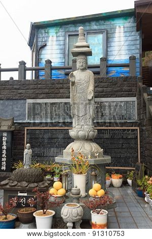 Buddha Statue On The Island Of Jeju