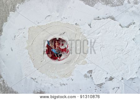 Wall, Plaster And Socket