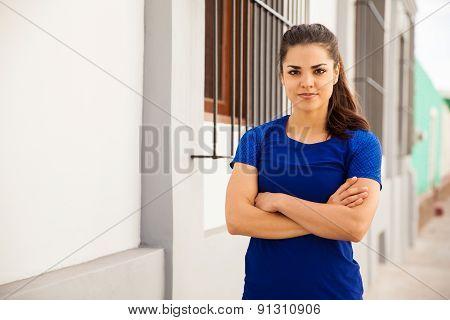Beautiful Female Athlete