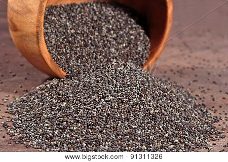 Poppy Seeds In A  Bowl