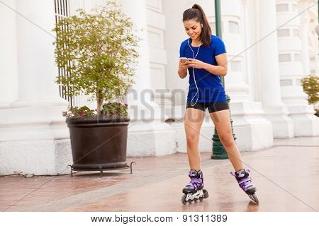 Happy Skater Listening To Music