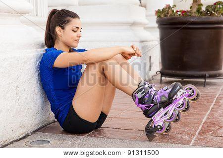 Skater Taking A Break