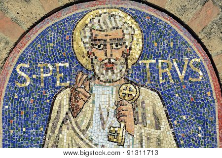 Agliate - Church Of San Pietro, Mosaic