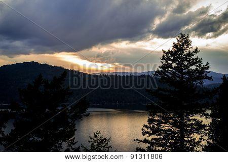 Sunset in North Idaho