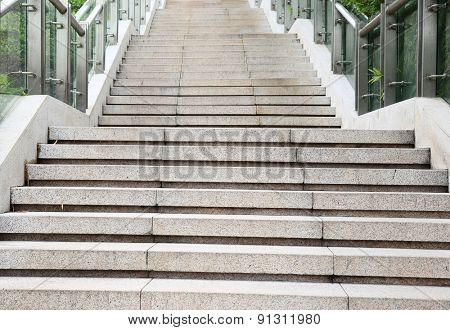 Urban outdoor stairs