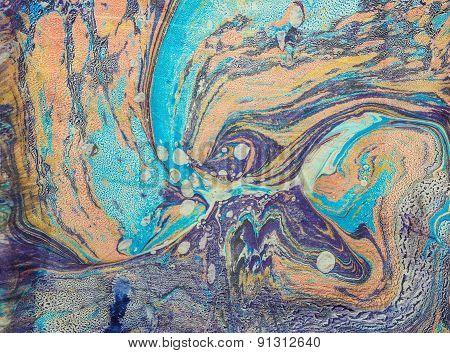 Ebru Blue Space