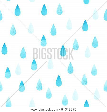 Rain Blue Seamless Drops