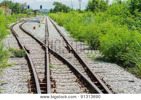 Railway Track, Railroad Junction