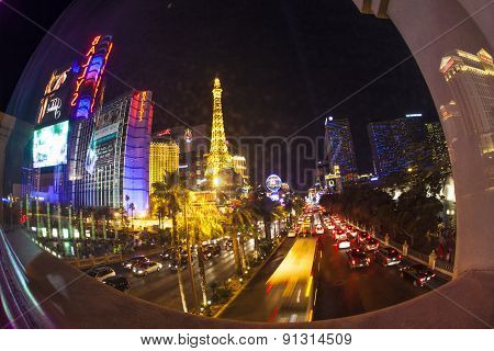 The Strip And Paris Las Vegas Hotel
