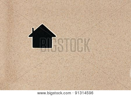 Pointer, Ads Board In The Form House  In The Sand
