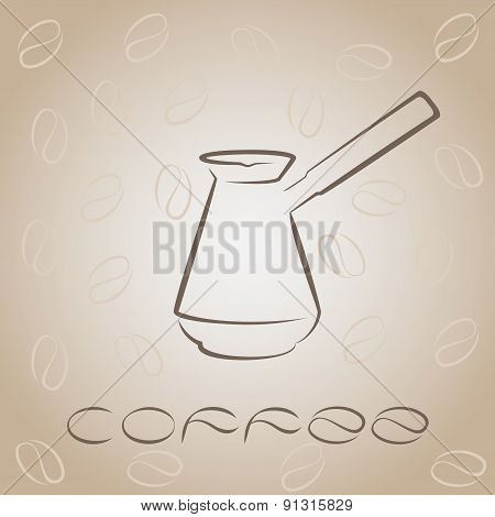 Coffee Card Template With Turk For Design