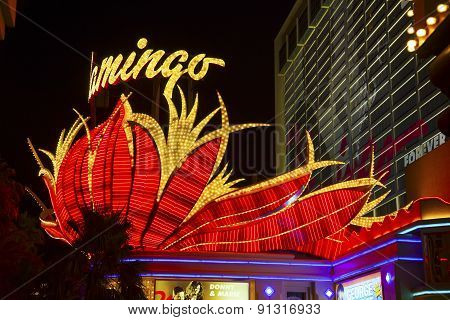 Flamingo Hotel Neon, Las Vegas, Nevada