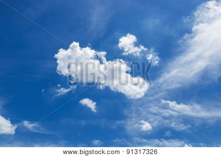 Sky With Afternoon Clouds