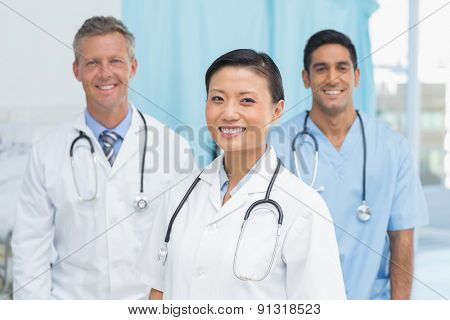 Portrait of confident doctors at hopital