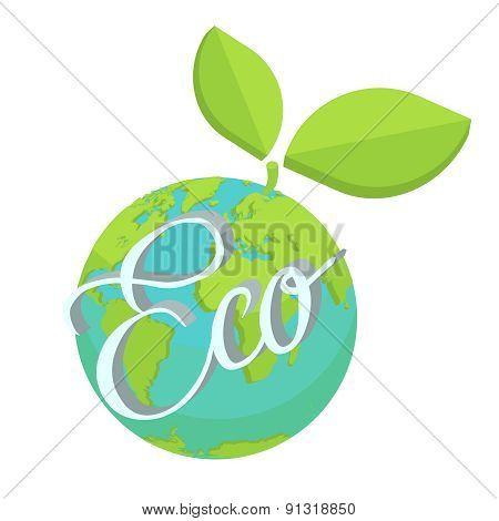 Eco Earth Green Planet Vector