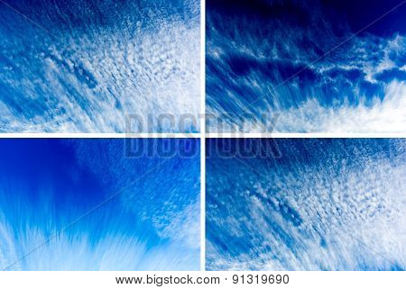 Blue Sky Clouds Photo Collage