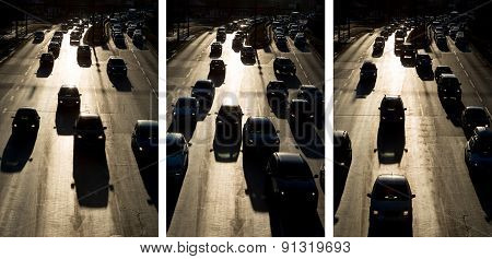 Traffic Jam Cars Street Silhouette Photo Collection