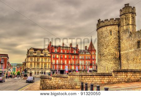 View Of Windsor Town And A Tower Of The Castle - England