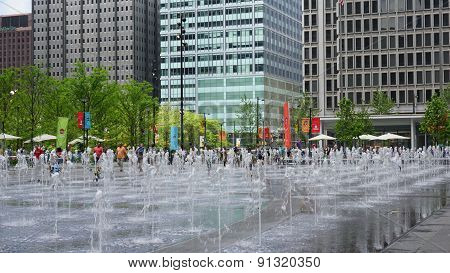 Dilworth Park Fountain in Philadelphia