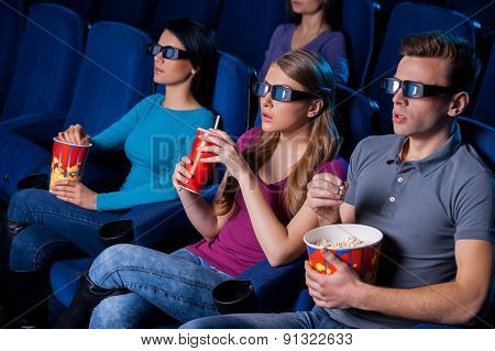 Enjoying Three-dimensional Movie.