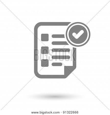 Flat Contract Icon Background