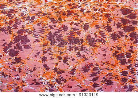 Purple Orange Pattern With Waves