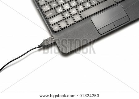 Usb Cable And Laptop