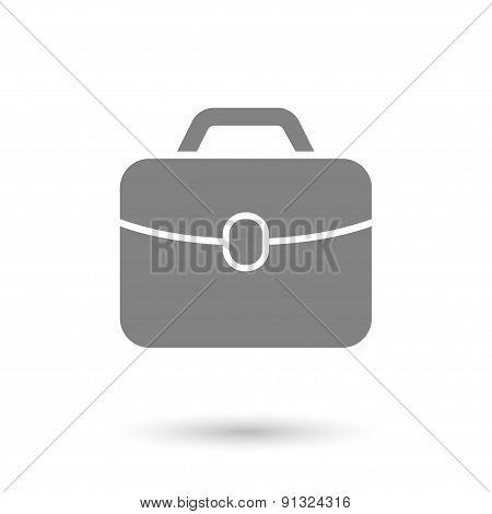 Flat Briefcase Icon Background