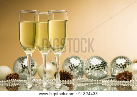 Christmas, Champagne, Party