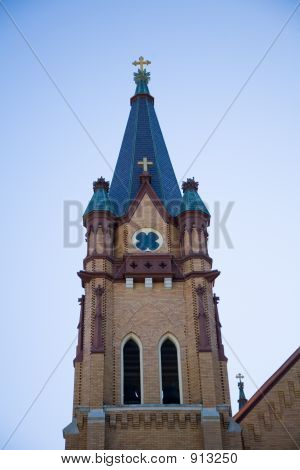 Bell Tower Of A Small Town Church