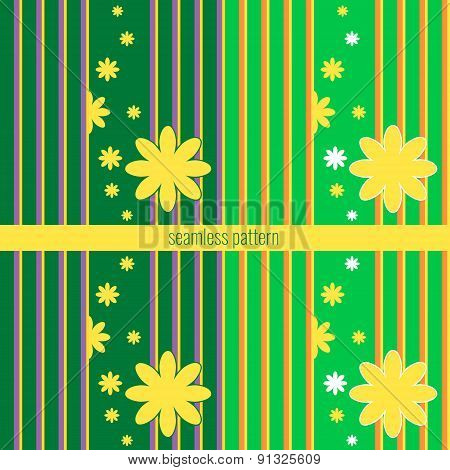vector seamless pattern with floral elements