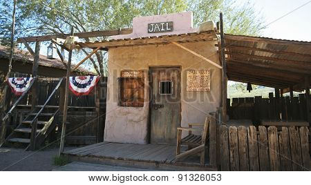 An Old Goldfield Ghost Town Jail, Arizona