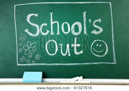 Inscription on blackboard background