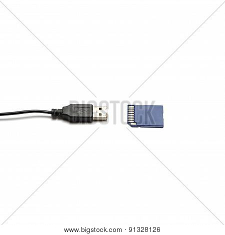 Usb Cable And Sd Card