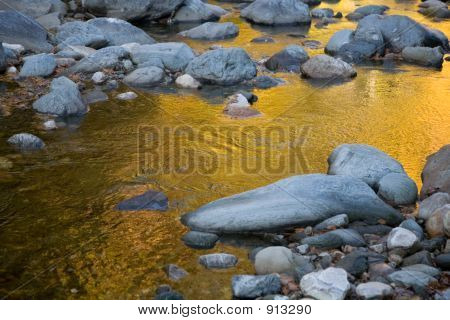 Golden Autumn Reflected In The River