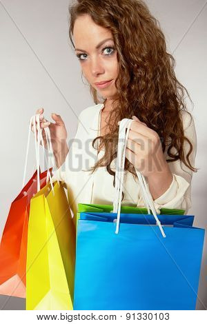 Woman Has Fun On Spending Spree