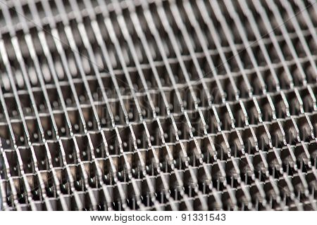 Close-up Of Modern Computer Processor Cooler Or Radiator Or Heat Sink