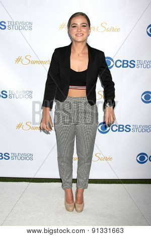 LOS ANGELES - MAY 18:  Haley Lu Richardson at the CBS Summer Soiree 2015 at the London Hotel on May 18, 2015 in West Hollywood, CA