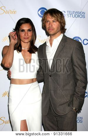 LOS ANGELES - MAY 18:  Daniela Ruah, Eric Christian Olsen at the CBS Summer Soiree 2015 at the London Hotel on May 18, 2015 in West Hollywood, CA