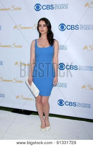 LOS ANGELES - MAY 18:  Adelaide Kane at the CBS Summer Soiree 2015 at the London Hotel on May 18, 2015 in West Hollywood, CA